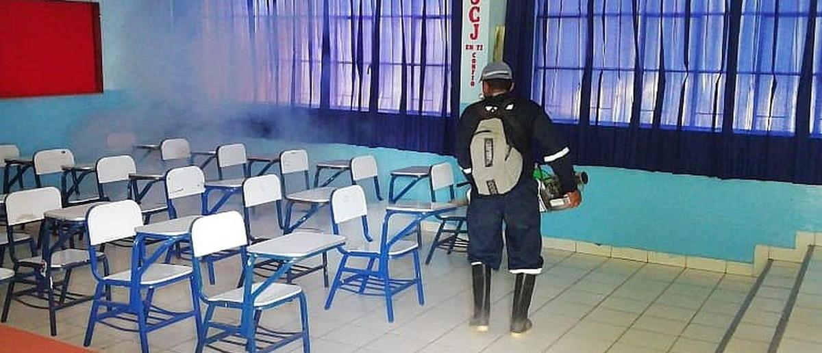 fumigar los colegios